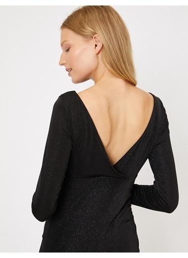 Koton Koton Siyah Elbise Siyah